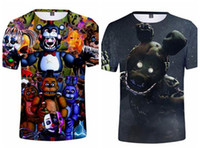 Boy Girl Short Sleeve T Shirt Funny Anime Cartoon Five Nights At Freddys 3D Print Tshirt Kids Costume Tops Tee Children Clothes