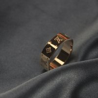 Wholesale celtic couples jewelry resale online - fashion designer jewelry women rose golden rings NANOGRAM ring couple ring for men women Flower rings party jewelry