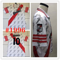 Wholesale soccer beds for sale - Group buy 1996 River bed Retro home PRATTO Soccer Jersey River Plate white QUINTERO G MARTINEZ Classic vintage version Customized footba Shirt