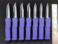 Wholesale tactical combat survival gear for sale - Group buy 7 Inch small D A Combat Hunting Camping Knives Purple Survival gear EDC Tactical Pocket Hiking Gift knife Outdoor Tools P55Q F