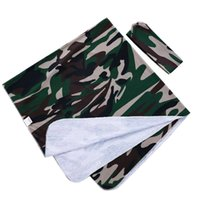 Wholesale solid green bedding online - Baby Blankets Newborn Baby Cotton Headscarf Nursery Bedding Army Green Cloth Headscarf Cocooning Polyester Cotton