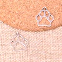 ayı pençe takılar toptan satış-156 adet Charms köpek ayı pençe Antik Gümüş Kaplama Kolye Fit Takı Yapımı Bulguları Aksesuar 19 * 17mm