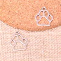 Wholesale antique bear pendant for sale - Group buy 156pcs Charms dog bear paw Antique Silver Plated Pendants Fit Jewelry Making Findings Accessories mm