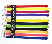 handys zur verfügung großhandel-12 Farben Blank Lanyard verfügbar Neck Strap ID-Karte für Handy String Schlüsselanhänger NeckStrap DHL