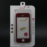 iphone прозрачное переднее стекло оптовых-360-градусный чехол для всего тела + передняя прозрачная стеклянная защитная пленка + жесткий задний чехол для ПК с розничной продажей для Iphone 6 6s / Iphone 6 Plus