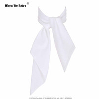 Wholesale small square chiffon scarves for sale - Group buy When We Retro White Women Scarf Small Square Solid Color Collar Little Cravat Scarves cm Ladies Chiffon Handkerchief SD0017