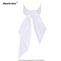 Wholesale ladies white handkerchiefs for sale - Group buy When We Retro White Women Scarf Small Square Solid Color Collar Little Cravat Scarves cm Ladies Chiffon Handkerchief SD0017