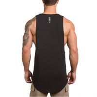 Wholesale exercise shirts for men resale online - 2019 New gym vest Fitness Exercise Fitness Running Training Fast drying vest Body building Air permeable sleeveless shirt for men