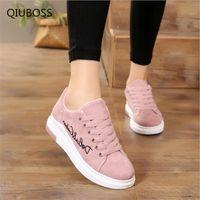 tenis fashion feminino großhandel-Qiuboss 2018 Mode Frauen Vulkanisieren Schuhe Freizeitschuhe Frau Plattform Damen Schuhe Turnschuhe Zapatos Tenis Feminino Q52 MX190723