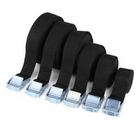 tiras de las pestañas al por mayor-1-6M Cinturón de hebilla Correa de carga para el automóvil Paquete de amarre de carga de equipaje Rratchet fuerte