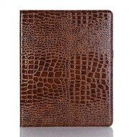 ipad fall krokodil großhandel-Für iPad 9.7 2018/2017 mini123 mini4 Case Kreditkartenetui Krokoprägung Filp Cover Rutschfester Rundumschutz für iPad 5/6