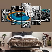 Wholesale musical instruments art paintings resale online - HD Canvas Art Painting For Living Room Wall Decor Pieces Electronic Musical Instrument Picture