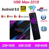 Wholesale android media player iptv resale online - H96 Max Android hd smart tv top Penta Core Mali Up to Mhz Google Player Media Player Support IPTV subscription