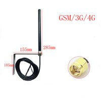 mini gsm anteni toptan satış-GSM GPRS açık çok yönlü su geçirmez anten 4 GLTE yüksek kazanç 5 M hattı baz istasyonu WIFI anten gelişmiş SMA