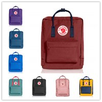 sacos de cor amarela venda por atacado-2019 Fjallraven Kanken Clássico Moda sacos de cor Mochila Pêssego Rosa Azul Vermelho Amarelo Saco mini 7L 16L 20L