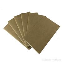 boş kitap kapağı toptan satış-Kağıt dizüstü boş not defteri kitap vintage yumuşak defterini günlük notlar Kraft kapak dergi notebooklar not defteri toptan