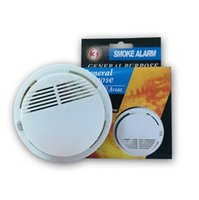 Wholesale wireless security alarms online - Smoke Detector Alarms System Sensor Fire Alarm Detached Wireless Detectors Home Security High Sensitivity Household Sundries CCA11171