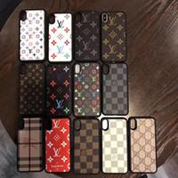 funda de piel tpu para samsung al por mayor-Para iPhone X XS Max XR 8 7 6 Plus TPU Funda de cuero elegante de PU para el teléfono Estuches de patrón de lujo Cubierta para Samsung Galaxy S10 S9 S8 Nota 9 8