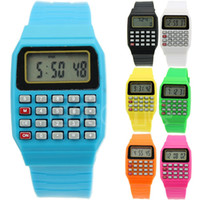 Discount electronics drop shipped Children Electronic Calculator Silicone Date Multi-Purpose Keypad Wrist Watch New Drop Shipping-PC Friend