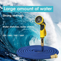 Wholesale universal pipes resale online - Universal FT FT Garden Hose Expandable Magic Flexible Water Hose Plastic Hoses Pipe With Spray Gun To Watering Hot Selling