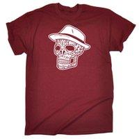 color fedora оптовых-Смешная новинка футболка мужская футболка - Fedora Candy Skull Смешная бесплатная доставка Унисекс Повседневная футболка