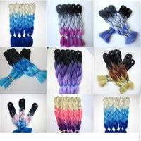 Wholesale ombre braiding hair xpression three tone for sale - Group buy H Kanekalon Jumbo Braids Hair inch g Ombre Three Tone Color Xpression Synthetic Braiding Hair Extensions