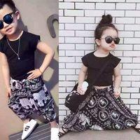 Wholesale baby clothing harem set resale online - 2019 Summer Style Girl Clothes Shirts Harem pants Girls Clothing Sets Fashion Baby Girl Clothes Kids Clothes Sets