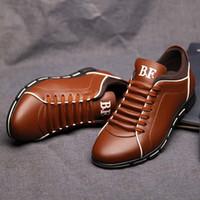 cc flats оптовых-TRAANO Повседневная обувь Мужчины Большой размер 38-48 Повседневная обувь Мода Кожа для мужчин Лето мужская плоская Dropshipping CC-066