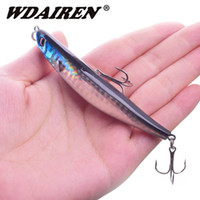 Wholesale topwater hard bait resale online - 1Pcs Topwater Floating Pencil Fishing Lure mm g Sub Surface Dying Fish Lures Artificial Hard Bait Pesca Fishing tackle WD