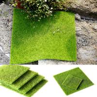 Wholesale miniature garden tools dollhouse resale online - 2 Size Artificial Grass Mat Plastic Lawn Grass Green Miniature Garden Ornament For Miniature Garden Dollhouse Tools