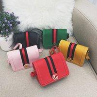 ingrosso borse per accessori per bambini-2019 bambini borsa nuova principessa ragazze moda messenger borsa carina a strisce piccola borsa quadrata accessori per bambini