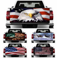 Wholesale truck window stickers words resale online - American eagle Fag car stickers Rear window air duct tape US Flag Animal print truck stickers For truck decoration GGA1811