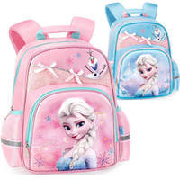 Wholesale cute backpacks resale online - 2019 frozen backpack Snow Queen cute Bow knot Backpacks kids School Bag Breathable backpack girls gift