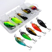 Wholesale crankbaits sets for sale - Group buy 2 Types Set Fishing Lures Deep Diving Crankbaits mm Artificial Hard Fishing Bait Wobbler Hooks Accessories