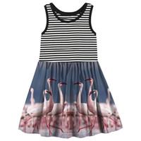 lindos vestidos de niña al por mayor-Baby Girl Dresses Vestido de niña Estilo de verano Baby nice best Print marca Niños Diseñador Moda Niños Ropa