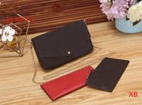 drei stücke design großhandel-LV M40718 2019 neue PU Damen Briefträger Umhängetasche Mode-Design Kette Tasche dreiteilige Brieftasche Karte Tasche Damen Handtasche