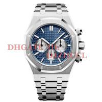 japan inoxidável venda por atacado-Luxo mens relógios designer Japão VK Chronograph movimento relógios aço inoxidável completo 5ATM à prova d 'água super luminoso 41mm montre de luxe