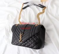 yumuşak deri siyah çanta toptan satış-Moda kadın Diyagonal Çapraz Siyah Jakarlı Kabartmalı Dikiş Dekoratif Deri Messenger Çanta Yumuşak Flip Çanta Hissediyorum