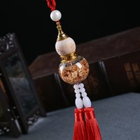 Wholesale gold gourd for sale - Group buy Car Pendant Gold Foil Gourd Auto Rearview Mirror Interior Purfume Decoration Chinese Style Hanging Ornaments Car Accessories