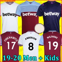 Wholesale united soccer resale online - 19 West soccer jersey United Ham home away NOBLE jerseys ANDERSON ARNAUTOVIC ANTONIO football shirt uniforms kit men kids