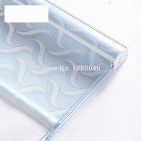 persianas de poliéster venda por atacado-estilo americano blinds de cores azuis à prova d'água de fibra de poliéster Tecido de rolo de liga de persianas de alumínio para casa de banho