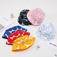 Wholesale korea girls hat resale online - Cartoon Korea Baby Bucket Hats Summer Soft Cotton Summer Baby Sun Hat Infant Boys Girls Bucket Hat Cotton Toddler Kids Tractor Cap