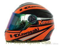 moto capacetes mulheres venda por atacado-Kawasaki Marca Da Motocicleta Rosto Cheio Capacete Dos Homens / mulheres Capacetes De Corrida de Moto Capacete Casco DOT Aprovado