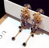 ingrosso nappe colorate-gioielli di design fiori orecchini di perline di cristallo colorato orecchini fatti a mano orecchini di nappa per le donne semplice moda caldo