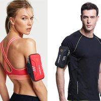 Wholesale waterproof wrist mobile phone online – 2020 Sports Arm Bag Running Mobile Phone Arm Bag Waterproof Outdoor Sports Equipment Fitness Wrist Bag W