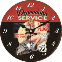 Wholesale antique car lights for sale - Group buy Vintage Hot Girl Design Car Clock Home Decor Office Cafe Kitchen Wall Watches Silent Wall Clocks Art Vintage Large Clock