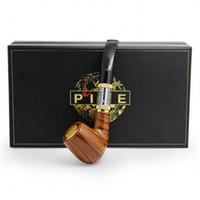 cigarettes électroniques de luxe achat en gros de-Top qualité Pipe 618 E-pipe e cigarette électronique ego kit de démarrage Luxe fumer 2.5ml atomiseur 628 Clearomizer double 18350 Batterie cadeau
