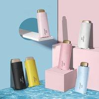 flache taschen großhandel-Ultraleichter Taschen-Mini-Flat-Fünffach-Taschenschirm Sonnenschirm UV-Sonnenschirm Volltonfarbe