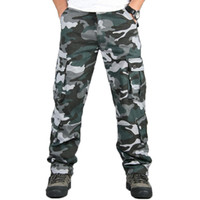 Tactical Pants Male Camo Jogger Casual Men's Cargo Pants Cotton Trousers Multi Pocket Military Style Army Camouflage Black urban