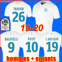 Wholesale soccer kit jersey uniforms for sale - Group buy 19 Olympique De Marseille soccer jersey OM jerseys maillot de foot PAYET GUSTAVO THAUVIN football shirt uniforms men kids kit